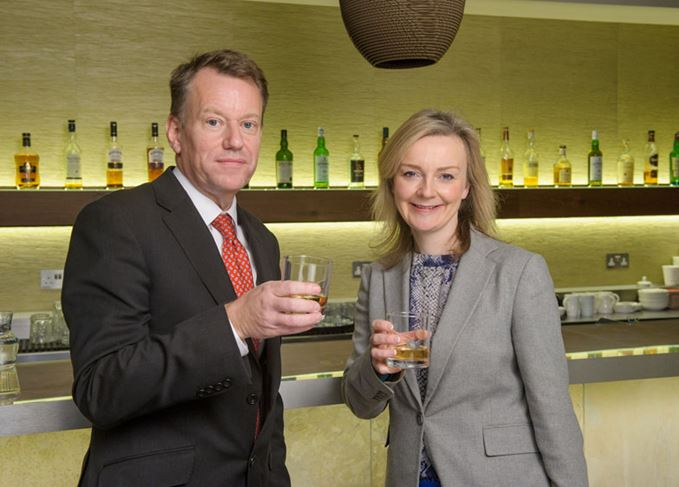 David Frost and Elizabeth Truss