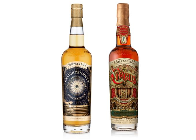 Compass Box's Enlightenment and The Circus whiskies