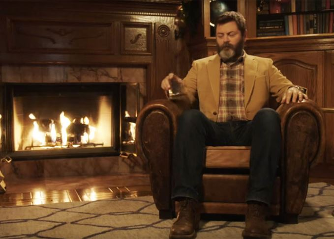Nick Offerman and Lagavulin's Yule Log video