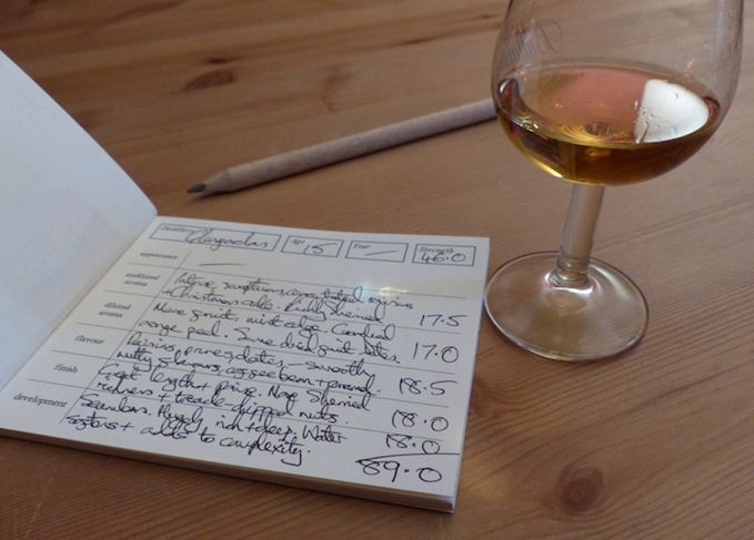 A whisky scoring book