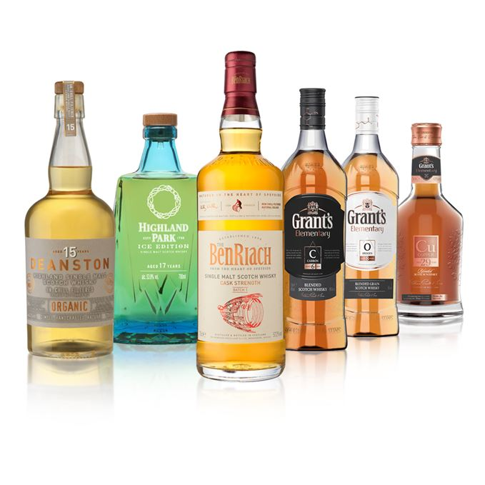 New whiskies include Deanston Organic, Benriach Cask Strength, Grant's Elementary and Highland Park Ice