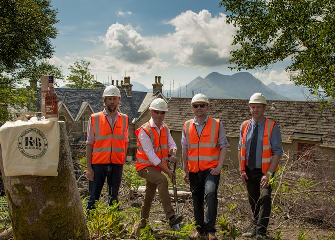 Ground-breaking at Raasay distillery