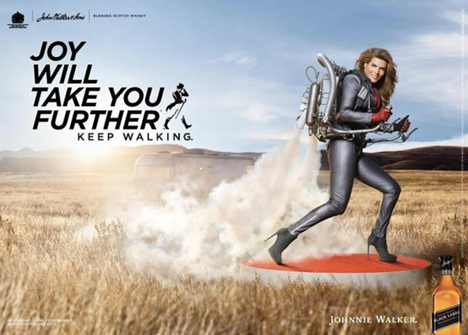 Johnnie Walker's Joy Will Take You Further campaign