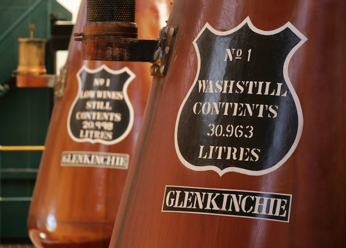 Stills at Glenkinchie distillery