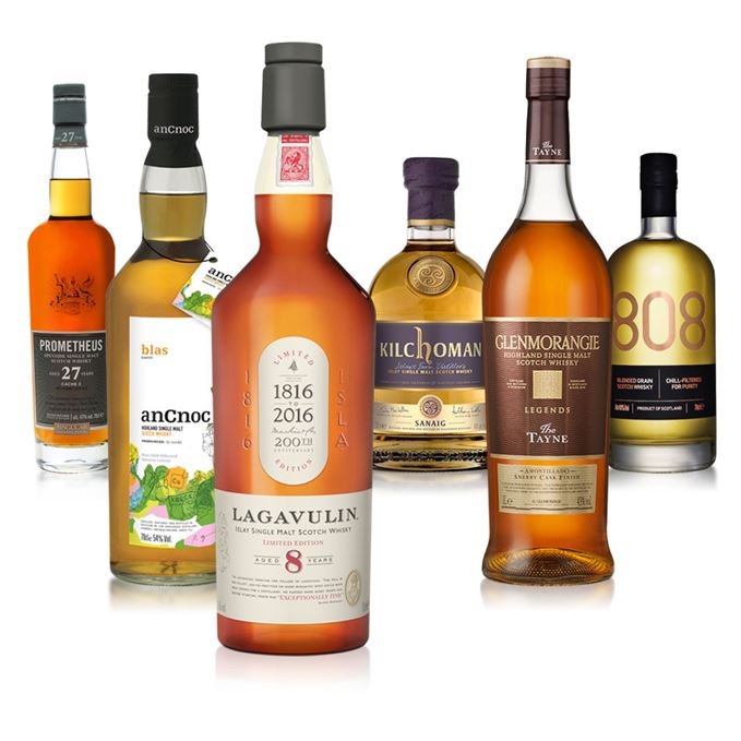 Batch 31 includes Lagavulin 8 Year Old, Kilchoman Sanaig, AnCnoc Blas, Prometheus 27, 808, and Glenmorangie Tayne.