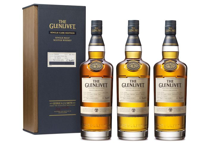 The Glenlivet Pullman single cask whiskies