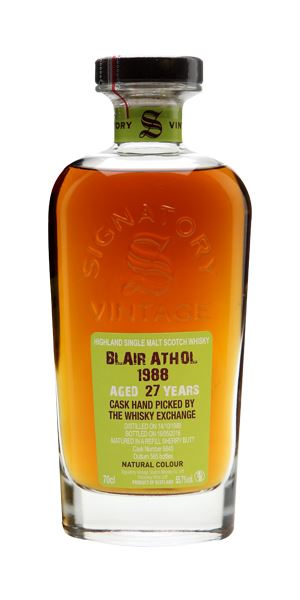 Blair Athol 1988, 27 Years Old, (Signatory for The Whisky Exchange)