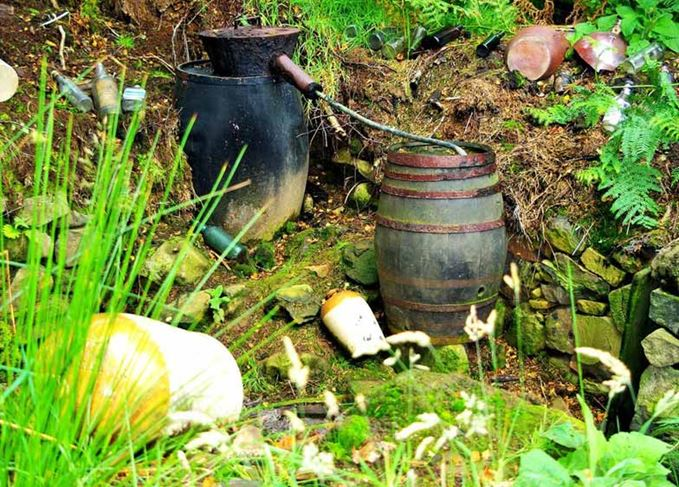 Illicit whisky still