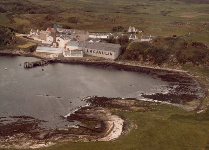 Lagavulin distillery from the air
