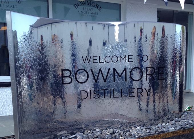 Bowmore distillery sign